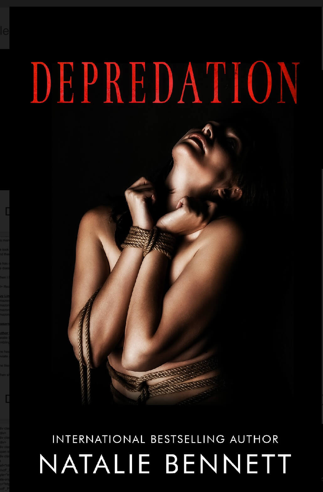 Release Blirz * Depredation by Natalie Bennett * Blog Tour * Giveaway * Book Review *