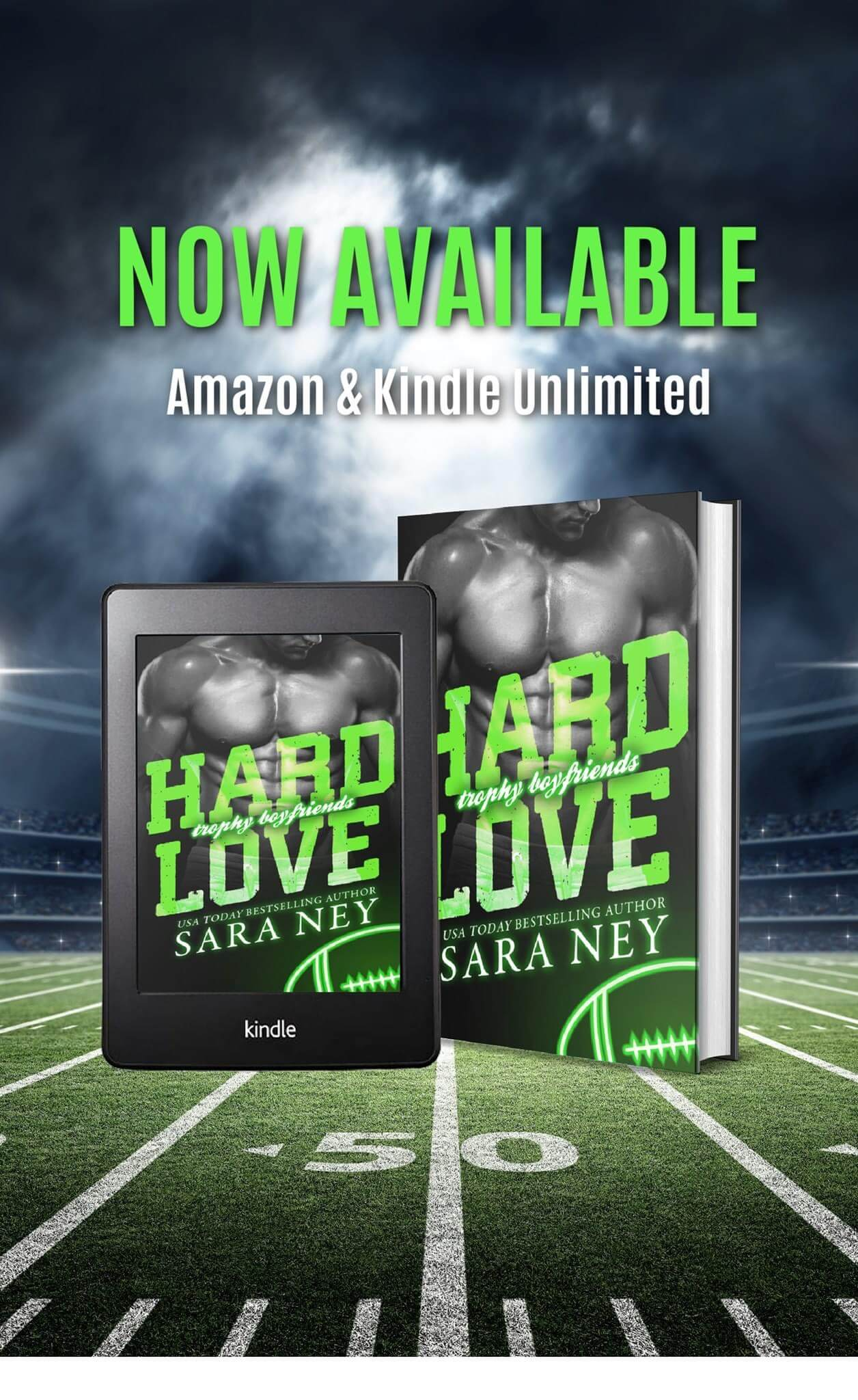 Release Day Blitz * Hard Love (Trophy Boyfriends series book 3) by Sara Ney * Book Review * KU * Available Now