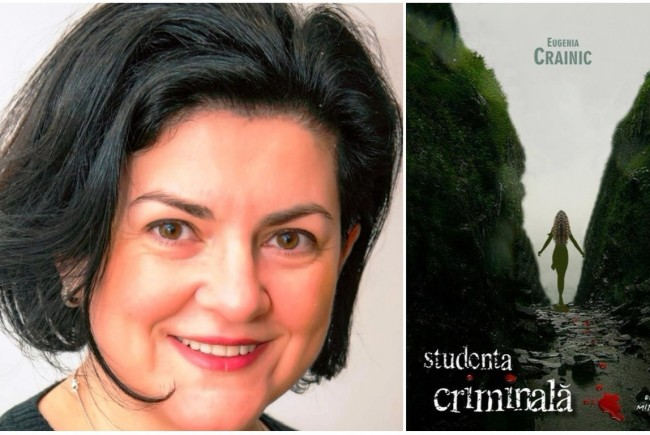 """La ceas de seară cu Eugenia Crainic, autoarea romanului polițist """"Studenta criminală"""""""