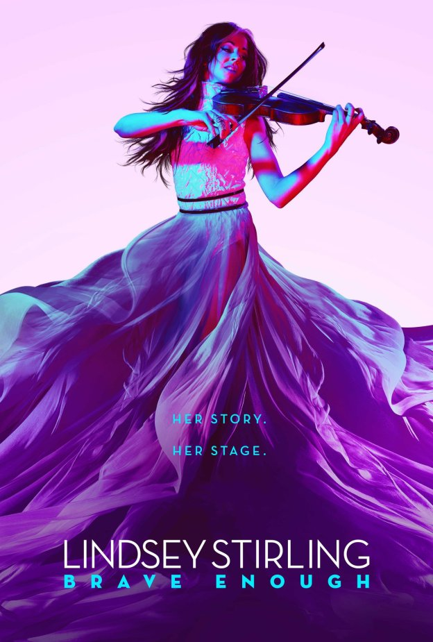 """Poster for the movie """"Lindsey Stirling: Brave Enough"""""""