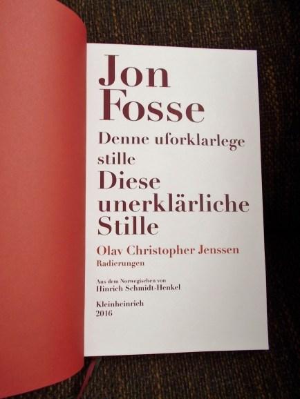 Jon Fosse: Diese unerklärliche Stille