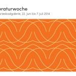Deckblatt des Literaturwoche-Flyers 2014 (Design Martin Leibinger)