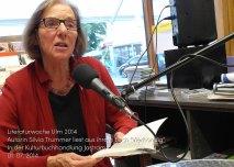 """Autorin Silvia Trummer (Schweiz) las aus ihrem neuen Buch """"Vierhändig"""""""