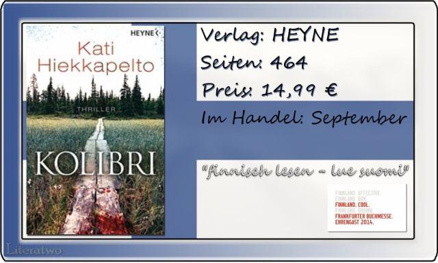 Literatwo: Kolibri ~ Kati Hiekkapelto