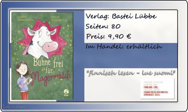 """Literatwo: """"Bhne frei für Magermilch"""" ~ Leena Parkkinen"""
