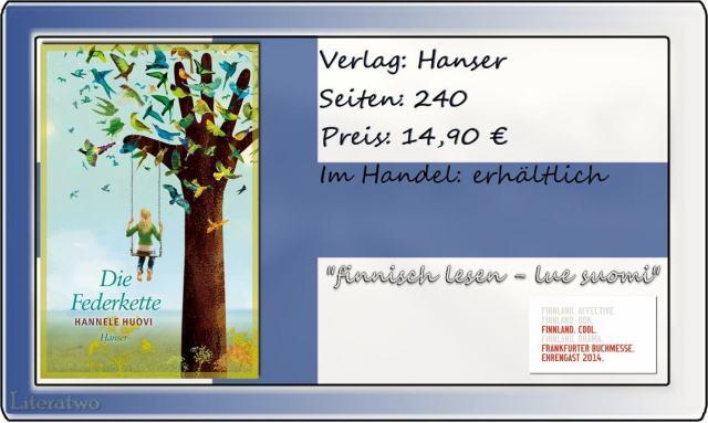"""Literatwo: """"Die Federkette"""" ~ Hannele Huovi"""