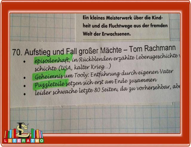 Aufstieg und Fall großer Mächte ~ Tom Rachman (Quelle: Büchermagazin 1/2015)