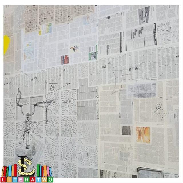 Hauswand voller Seiten