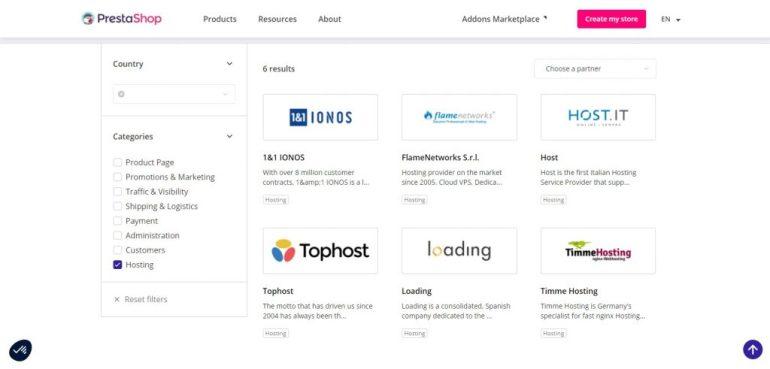 PrestaShop web hosting partners (OpenCart vs PrestaShop)
