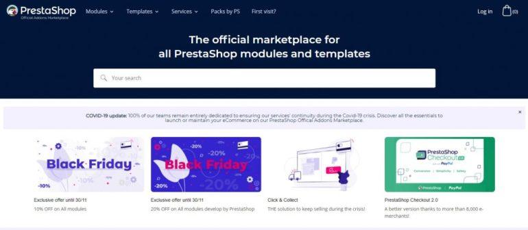 PrestaShop Addons Marketplace (OpenCart vs PrestaShop)