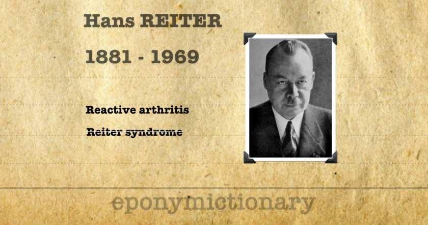 Hans Reiter • LITFL • Medical Eponym Library
