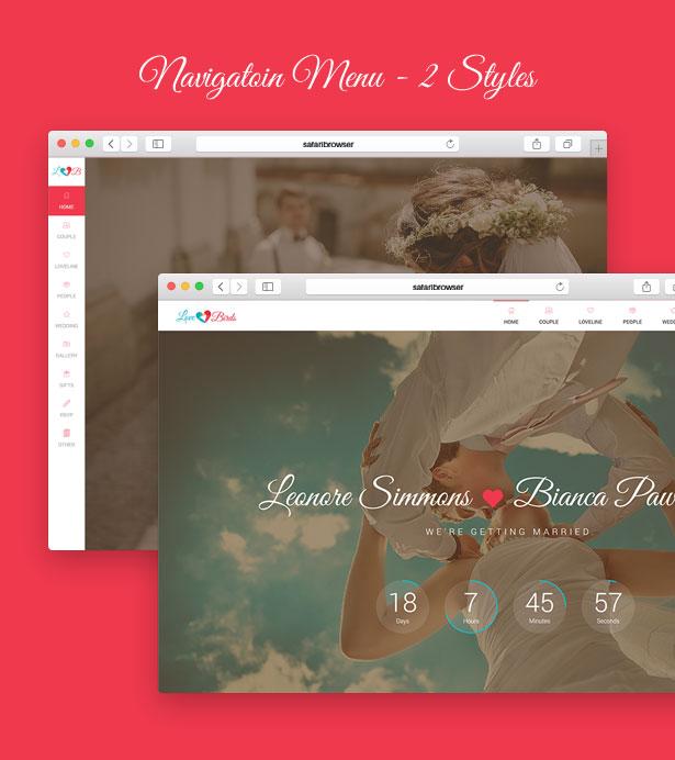 Lovebirds - Responsive Wedding HTML Template - 3