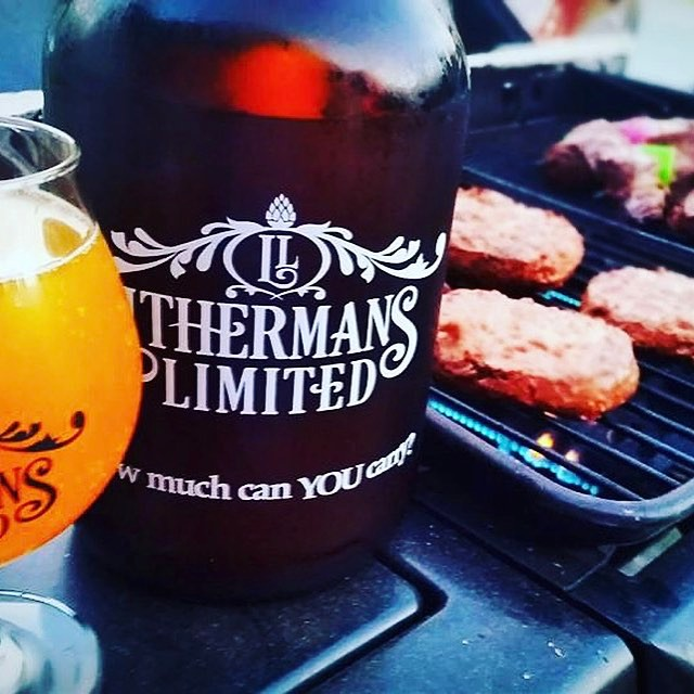 #HowMuchCanYouCarry #lithermans #concordNHbrewed #MHPlikes turkey burgers #sluglife