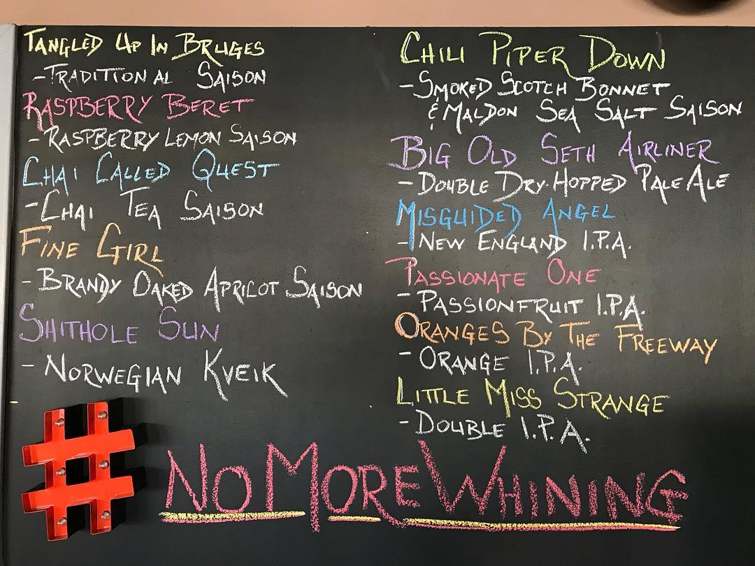 Today's offerings. Tasting room opens at 4 pm. #lithermanslimited #concordNHbrewed #nhbeer