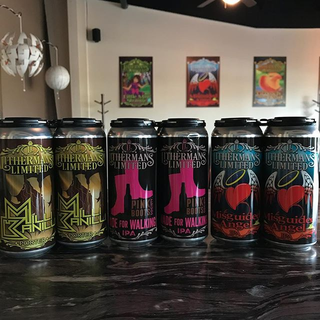 Starting off the day with 3 fresh batches of cans! Milli Banilli Porter, Misguided Angel and Made for Walking. Tasting room opens at 4pm.