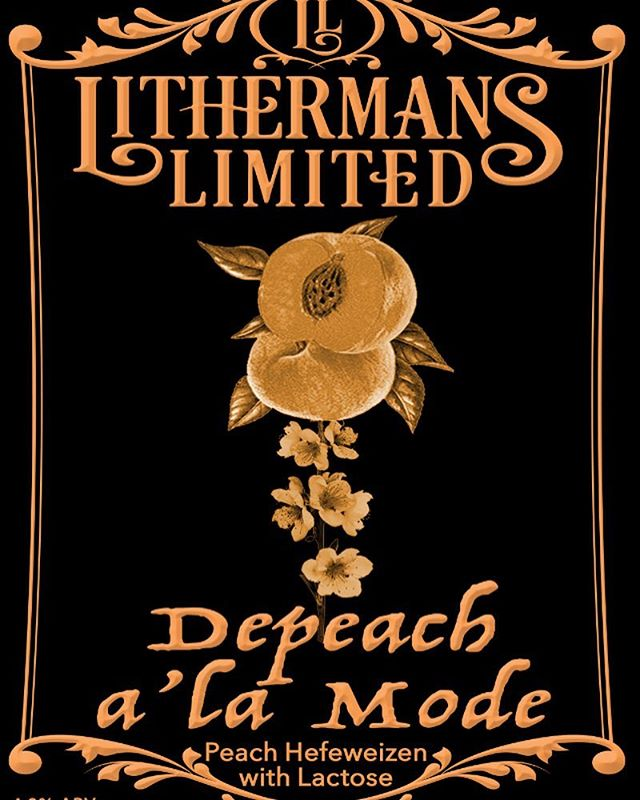 Depeche Mode cranking on the speakers and brewing up this years first batch of DePeach a'la Mode! #lithermanslimited #nhbrewers