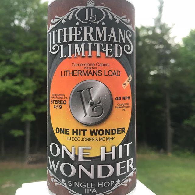 Don't miss this Friday's can release of our Single hop IPA series One Hit Wonder. This time featuring Galaxy hops. #howmuchcanyoucarry #lithermanslimited #nhbrewers