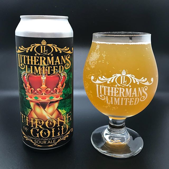 Throne of Gold – Sour Ale fermented with tangerine and passionfruit with a hint of nutmeg and oak.  On sale starting today at the brewery. #lithermanslimited #sourbeer #howmuchcanyoucarry