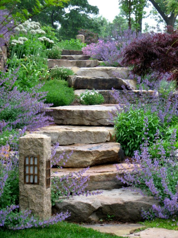 5 Amazing Garden Staircases - PergolaKitsUSA.com on Stepping Stone Patio Ideas  id=48901