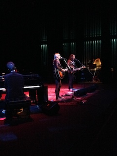 Aimee Mann, with Paul Bryan on bass, and a spectacular piano fellow whose name escapes me…