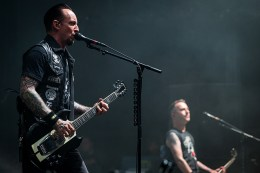 MONTREAL, QUE.: August 7, 2016-- Volbeat perform during the second day of the 2016 Heavy Montreal festival at Parc Jean Drapeau on Sunday August 7, 2016. (Tim Snow / EVENKO MANDATORY CREDIT)