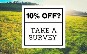 10% off when you take a survey