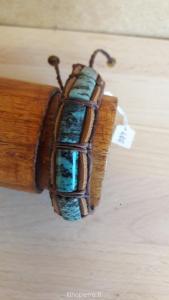 Bracelet cuir et turquoise