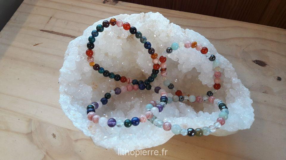 Les 33 pierres du bracelet  Chemin de Vie