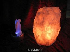 Lampe de sel avec ange