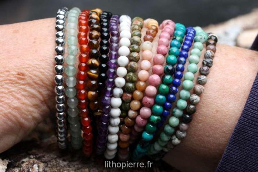 Bracelets de pierres en 4mm