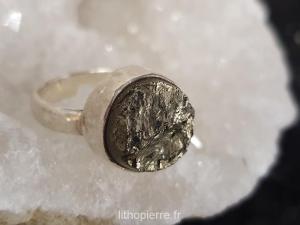 bague en pyrite