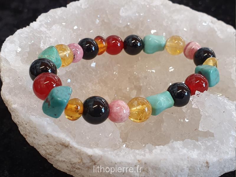 bracelet chemin de vie sur cristal de roche