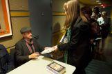 Colum McCann signing books