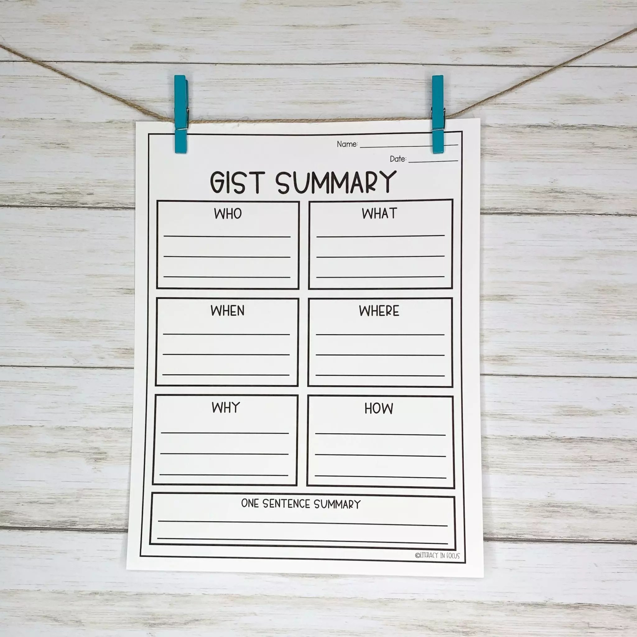 10 Graphic Organizers For Summary Writing
