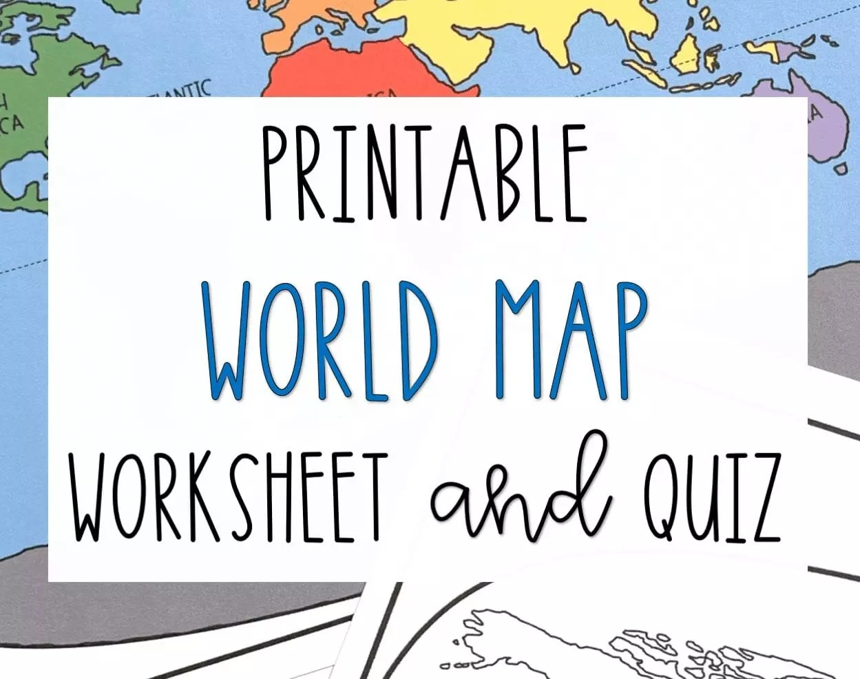 Printable Blank Map Of Continents And Oceans To Label