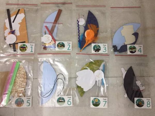 Kids Travel Activity with Arts & Crafts using Natural Materials