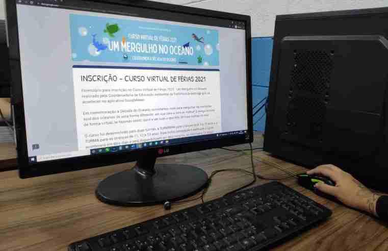 """CEA Bertioga abre inscrições para curso virtual de férias """"Um mergulho no oceano"""""""