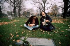 Dylan + Ginsberg @ Kerouac's grave