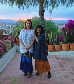Sandra Cisneros and Nancy Traugott by Phil Traugott