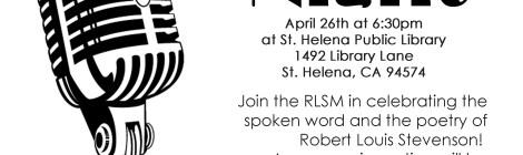 Stevenson Poetry Night at the SHPL