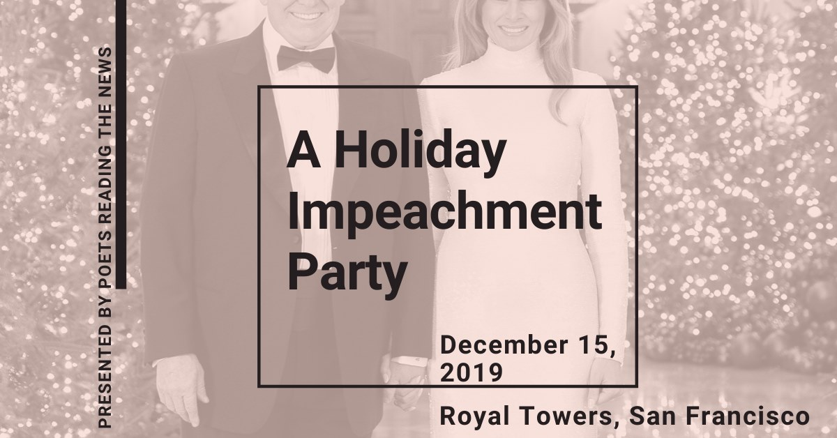 flier for A Holiday Impeachment Party