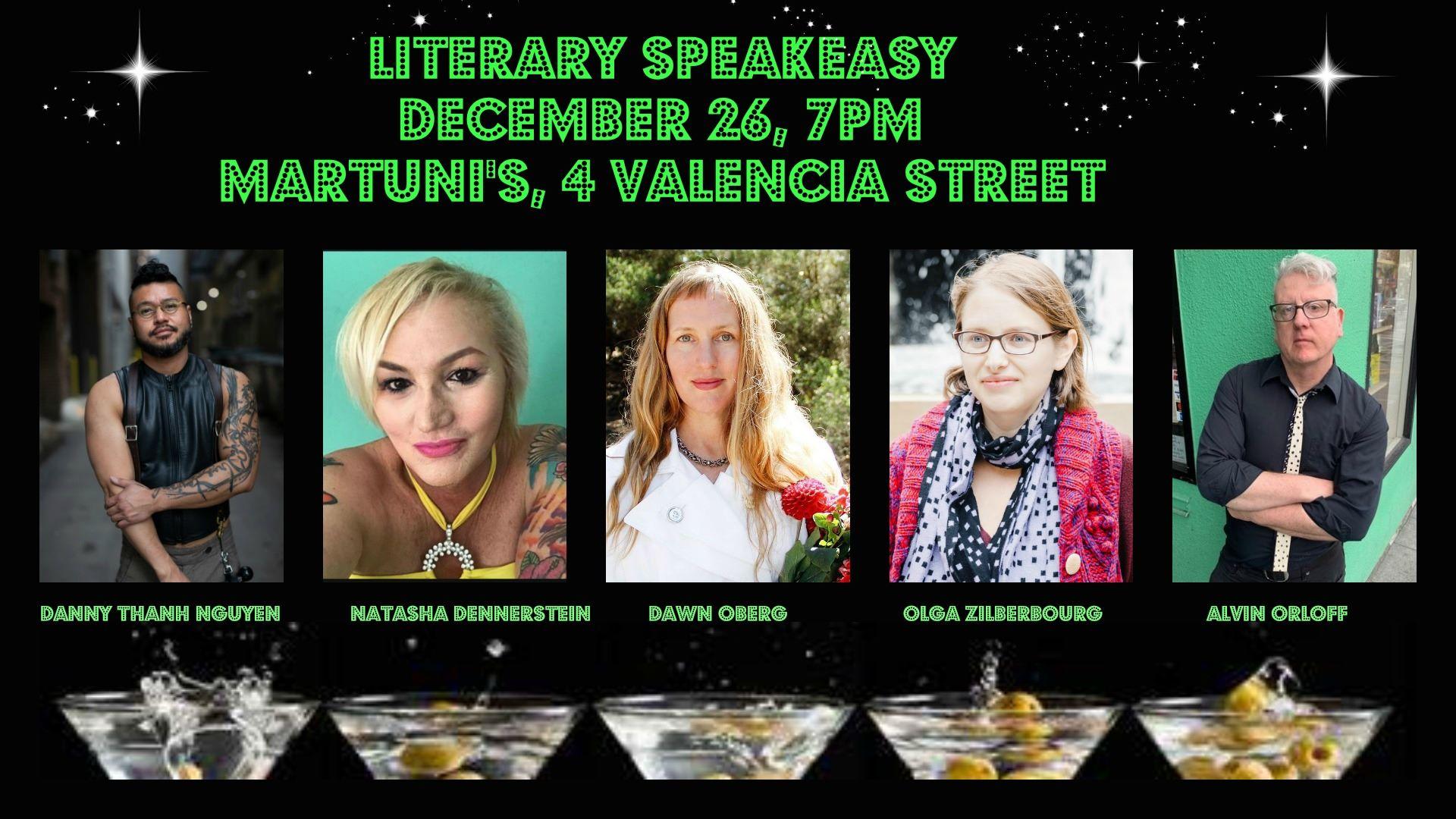 flier for Literary Speakeasy