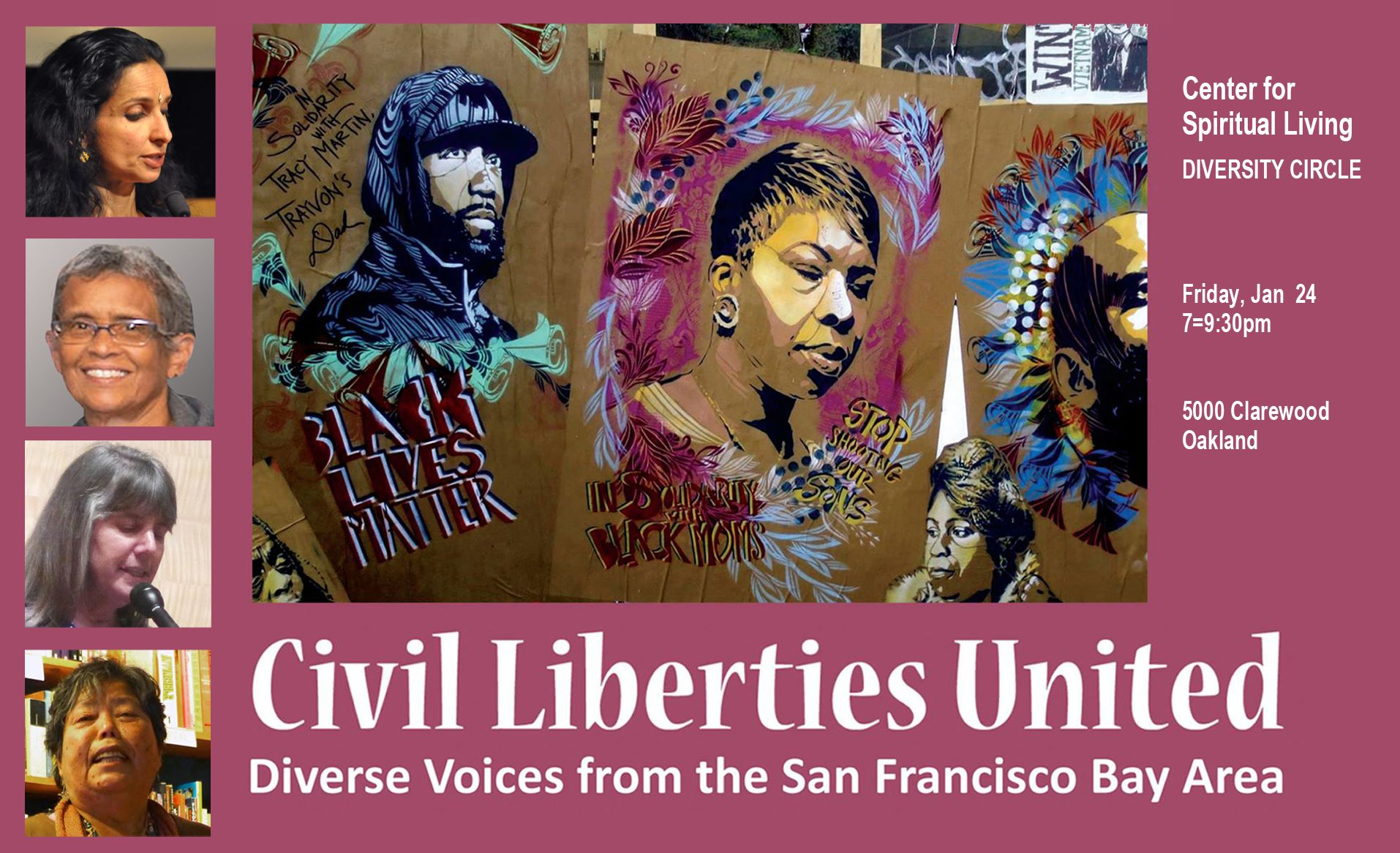 flier for Civil Liberties United
