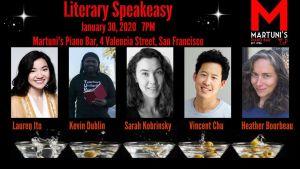 flier for Literary Speakeasy Jan 2020