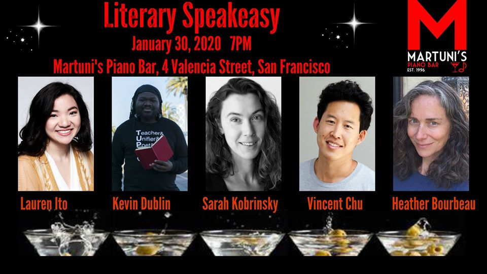 flier for Literary Speakeasy Jan 2020