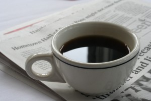 coffee and newspapers