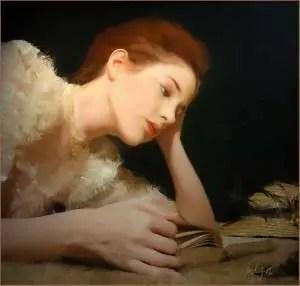 woman reading beautiful