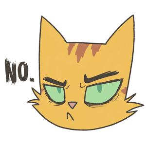 "Cat Mom ""NO."" Face"
