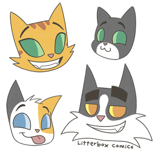 Cat Family Heads