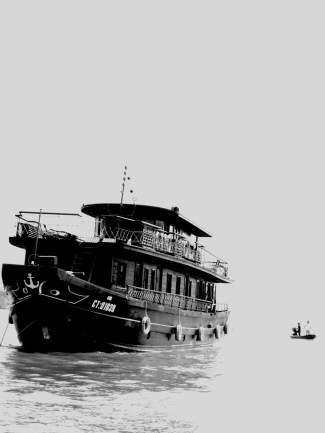 at the Mekong River